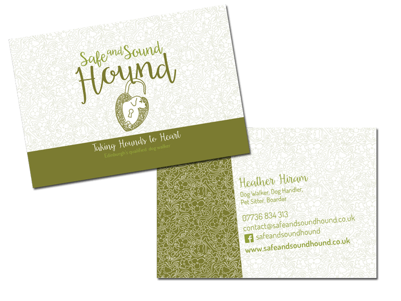 Business Card for Safe and Sound Hound