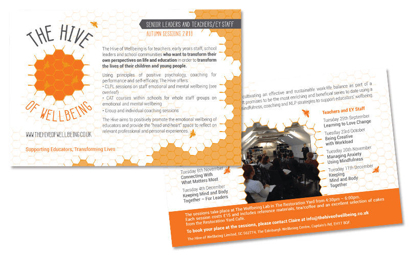 The Hive of Wellbeing: Event's flyer