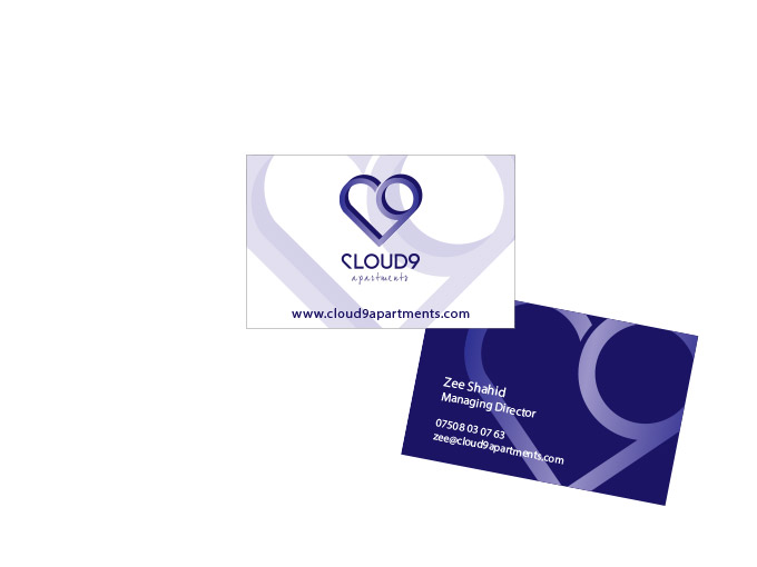 Business Card for Cloud 9 apartments