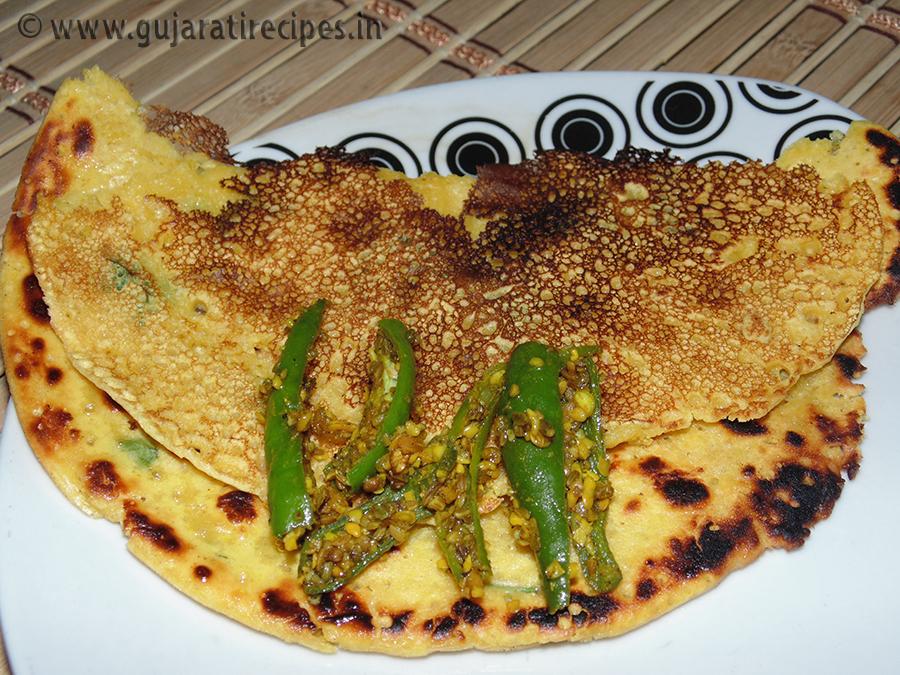 Gujarati Besan Pudla – Besan ka Cheela – Chickpea Pancake