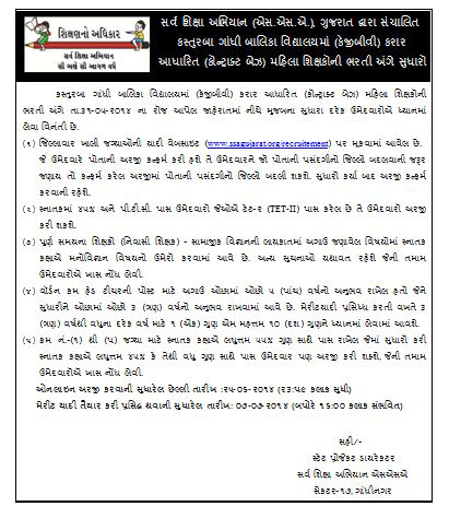 KGBV Recruitment 2014 sudharo