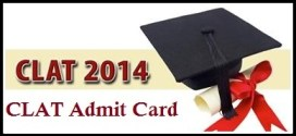 CLAT Admit Card 2014