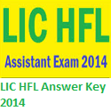LIC HFL Assistant Answer Key 2014