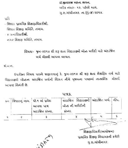 Vidhyalaxmi Bond June 2014 Kharidi Mate Andajit Kharch Moklava Babat