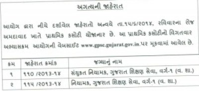 GPSC Joint Director-Director Class I Post Exam Date Notice