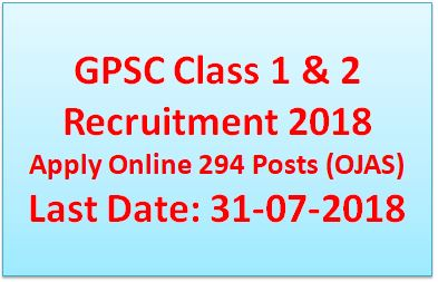 gpsc class 1 & 2 examination 2018