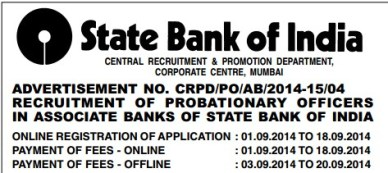 SBI 2986 PO Recruitment 2014