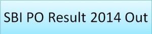 SBI PO Result 2014