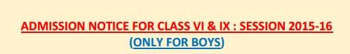 Sainik School Balachadi Admission 2015-16