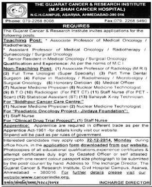 GCRI Recruitment 2014
