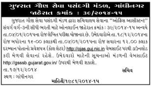 GSSSB Office Assistant Call Letter