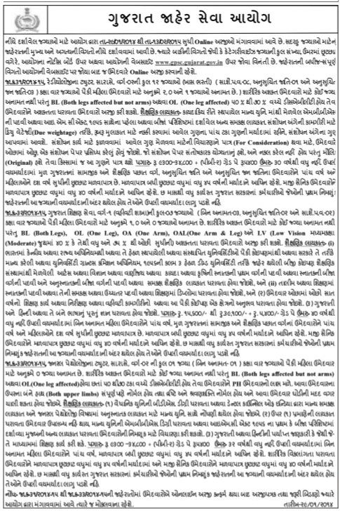 GPSC Various Recruitment 2015
