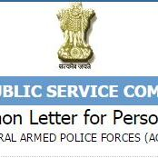 UPSC Central Armed Police Forces Interview