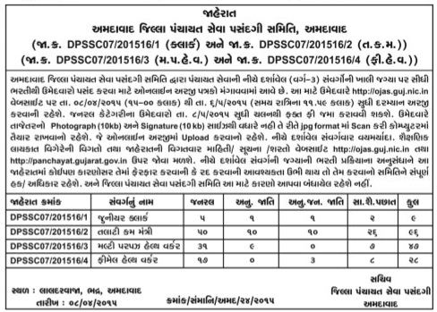 GPSSB Ahmedabad Recruitment