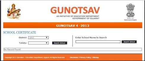 Gunotsav 4 School Certificates