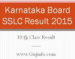 Karnataka SSLC Result 2015