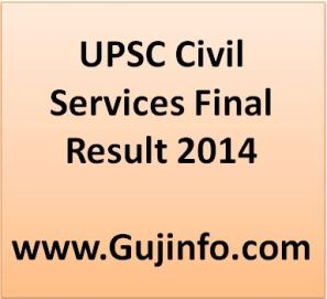 UPSC Civil Services Result 2014