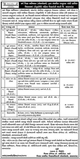 KGBV Recruitment 2015