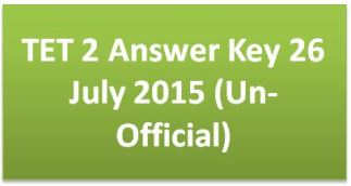 tet 2 answer key 2015