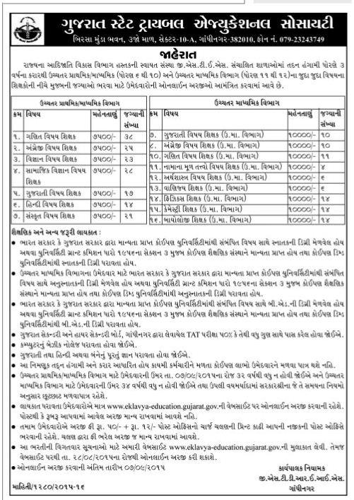 GSTES Teacher Recruitment 2015