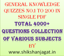 General Knowledge Quiz 1 to 200