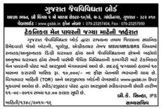 Gujarat Biodiversity Board Recruitment 2015
