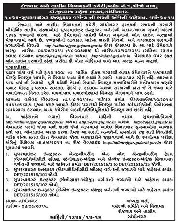 Gujarat ITI 1426 Supervisor Instructor Recruitment