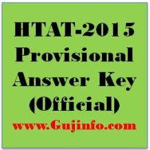 HTAT 2015 Provisional Answer Key