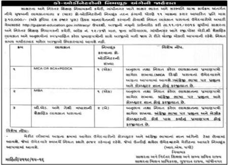 Coordinator Recruitment 2015