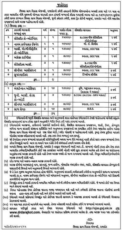 DRDA Rajkot Recruitment 2016