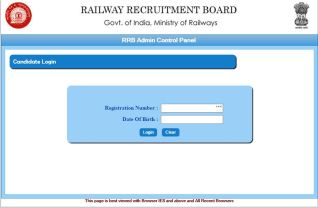 RRB Recruitment 18252 Post form Status 2016