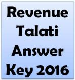 Revenue Talati Answer Key 2016
