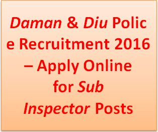 Daman and Diu police Recruitment 2016