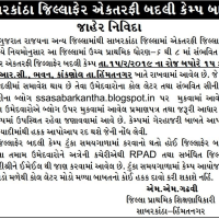 Sabarkantha Ektarfi Jillafer Badli Seniority List 2019