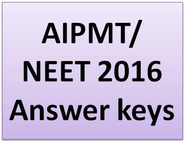 AIPMT Answer Key 2016