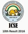 ICSE 10th Result 2016