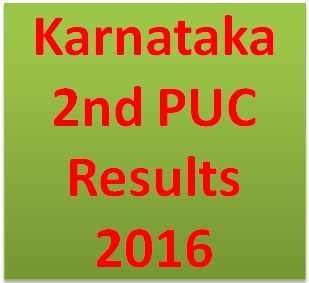Karnataka 2nd PUC Results 2016