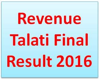 Revenue Talati Final Result 2016