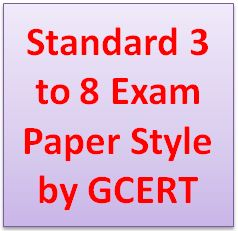 Standard 3 to 8 Exam Paper Style