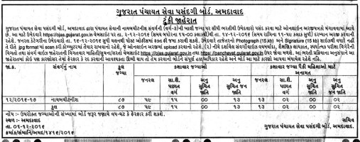 GPSSB Nayab Chitnis Recruitment 2016