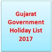 Gujarat Government Holiday List 2017