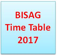 BISAG Time Table 2018