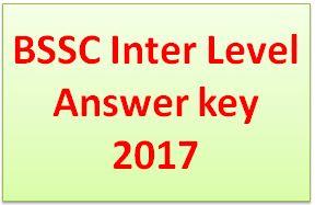 BSSC Inter Level Answer key