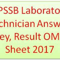GPSSB Laboratory technician Answer Key 2017