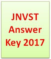 JNVST Answer Key 2017