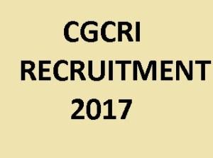 CGCRI Recruitment 2017