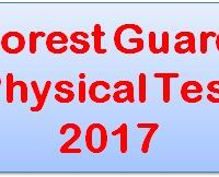 Forest Guard Physical Test 2017