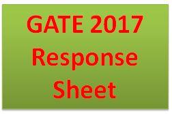 GATE 2017 Response Sheet