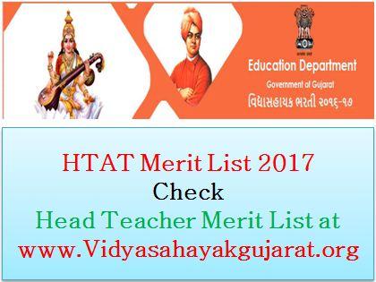 HTAT Merit List 2017