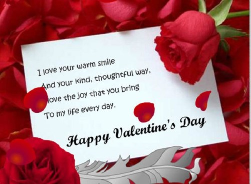happy valentine day card for lover